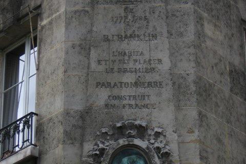Hôtel de Valentinois Plaque – Franklin Residence